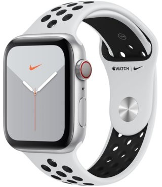 Apple Watch Series 5 Nike+ 44mm Srebrny (MX3E2WB/A)