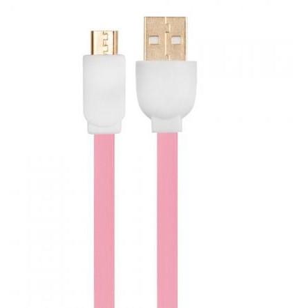 Arkas Kabel USB USB/micro USB 3m Różowy