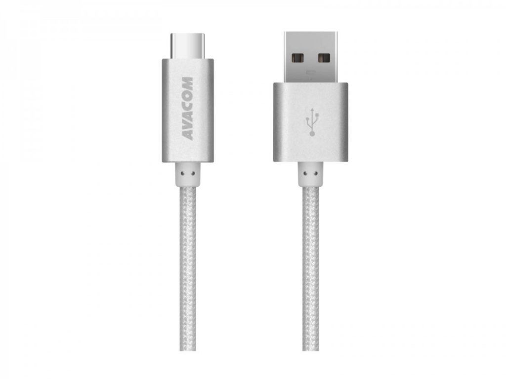 Avacom TPC-100S kabel USB USB Type-C 100cm stříbrná ANAQ00014KAG