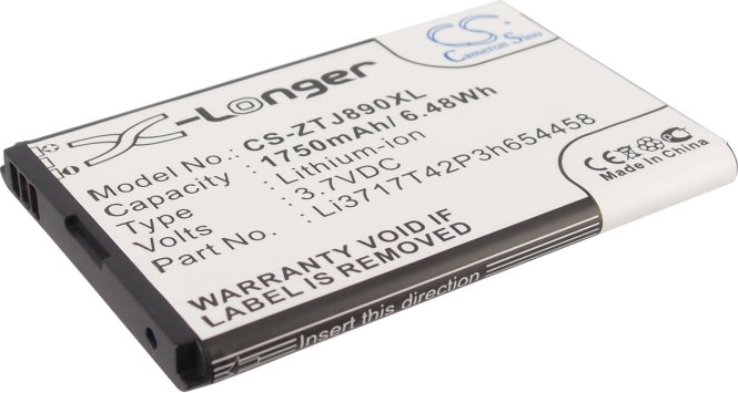 Cameron Sino ZTE Authentic / Li3717T42P3h654458 1750mAh 6.48Wh Li-Ion 3.7V () CS- (CS-ZTJ890XL)