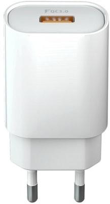 Forever TelForceOne Ładowarka sieciowa 1x QC30 (18W) biała GSM045480