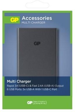 GP Ładowarka USB U601GS-B1 ładowarka 5 x USB 1 x USB-C U601GS-B1