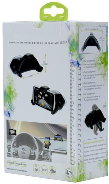 iGrip Smart Grip´R Kit - uchwyt samochodowy do smartfonów T5-19105