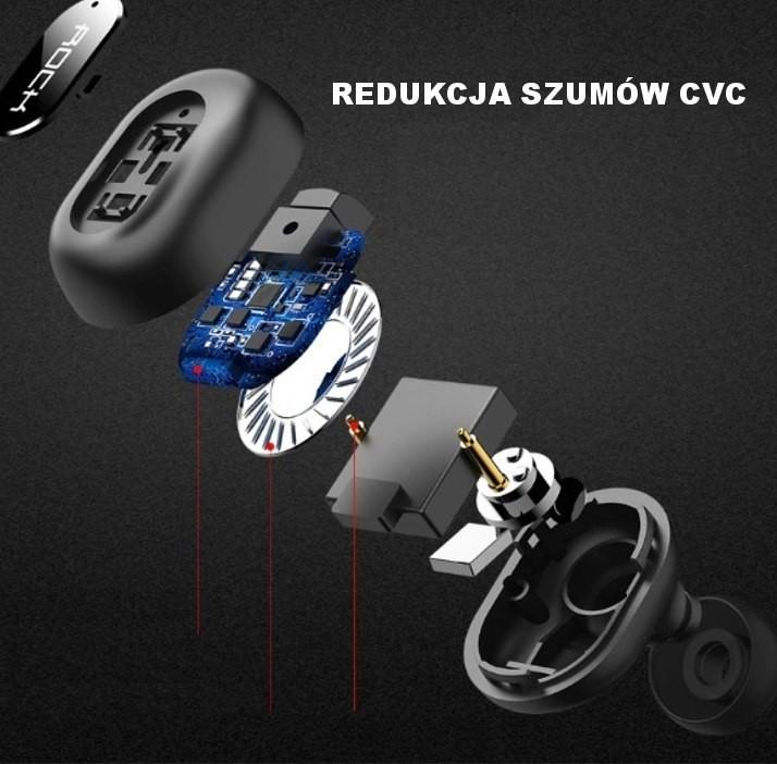 ROCK B400 - Ładowarka samochodowa 2xUSB z wbudowaną słuchawką bluetooth RCK049BLK