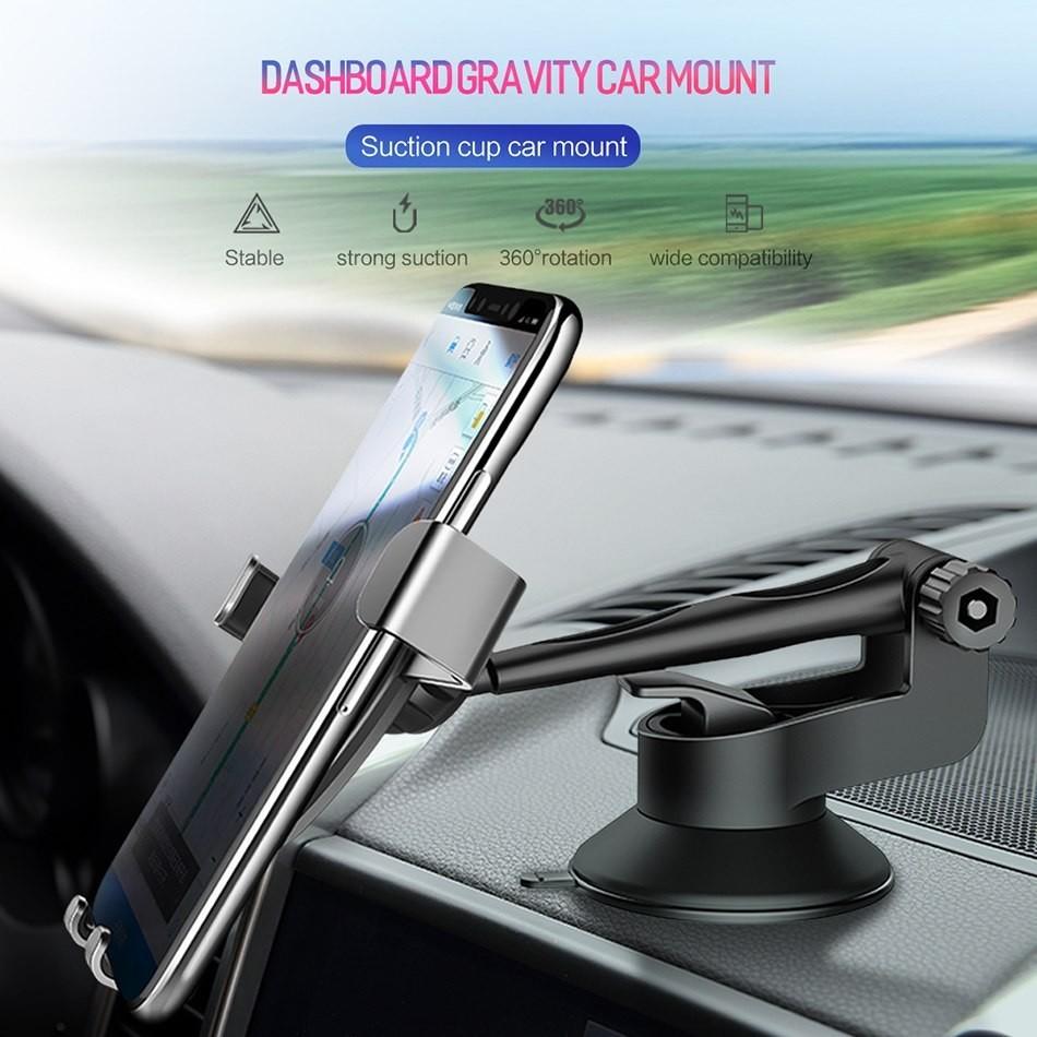 ROCK Uchwyt samochodowy Gravity do Szyby/Deski RCK015BLK