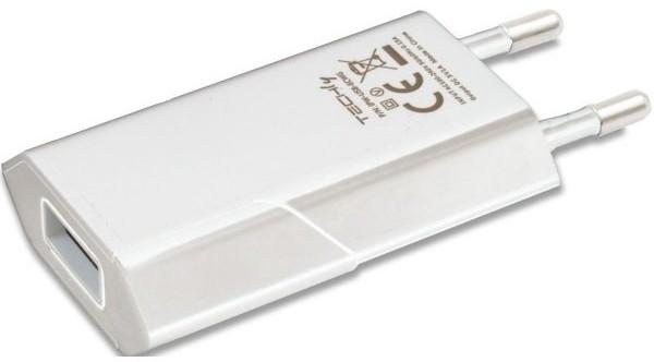 Techly Ładowarka sieciowa USB 5V 1A biała AZTEYLS00100747