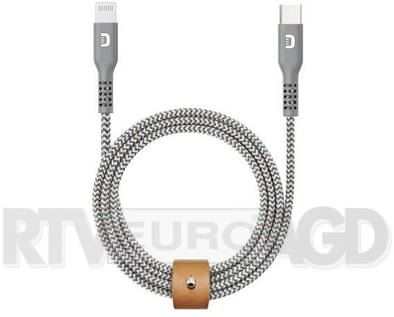 Zendure Zendure pleciony nylonowy kabel USB-C 1m szary |