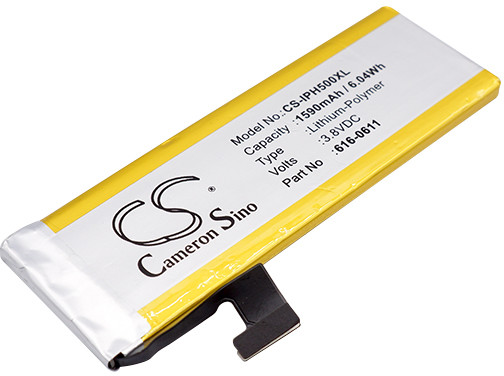 Apple iPhone 5 616-0610 1590mAh 6.04Wh Li-Polymer 3.8V Cameron Sino) CS-IPH500XL