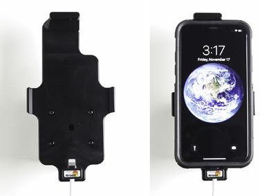 Apple Uchwyt do iPhone Xs w futerale z możliwością wpięcia kabla lightning USB BRODIT (514998)