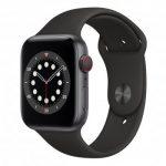 Apple Watch 6 44/Space Gray Aluminium/Black Sport LTE