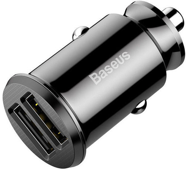 Baseus Baseus Grain ładowarka samochodowa 2x USB 5V 3.1A black (CCALL-ML01)