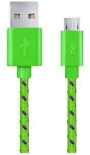 Esperanza KABEL MICRO USB 2.0 A-B M/M 1M OPLOT ZIELONY (EB175GP)