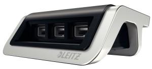 Esselte Ładowarka USB Leitz Style, 3 porty, satynowa czerń ES1208-2