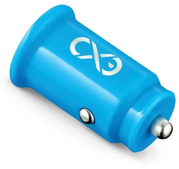 eXc Ładowarka samochodowa CUTE 2 x USB niebieska