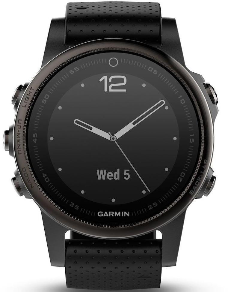 Garmin Fenix 5S Plus Sapphire Czarny (010-01987-03)