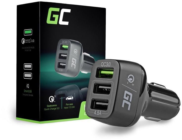 Green Cell Ładowarka samochodowa Green Cell 3xUSB z Quick Charge 3.0 CAD34
