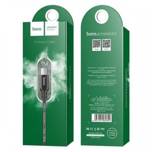 Hoco producent niezdefiniowany KABEL MICRO USB TIMES SPEED X14 USB 1M CZARNY