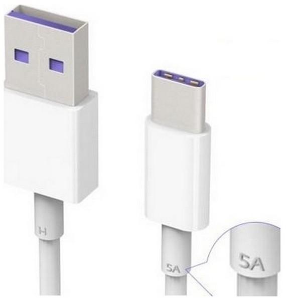 Huawei Oryginalny kabel HL-1289 USB-C TYP-C 3.1 biały bulk HL-1289