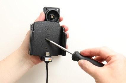 Huawei Uchwyt uniwersalny regulowany do P30 PRO bez futerału oraz w futerale lub etui o wymiarach: 70-83 mm (szer.), 2-10 mm (grubość) z wbudowanym kablem USB-C oraz ładowarką samochodową