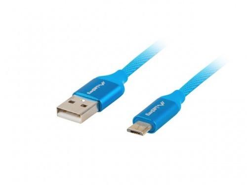 LANBERG LANBERG Kabel Premium USB micro BM - AM 2.0 1m niebieski QC 3.0