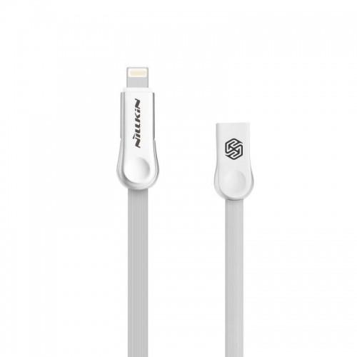 Nillkin Plus III 2w1 płaski kabel USB - micro USB / Lightning 1M 2.1A biały 6902048125094