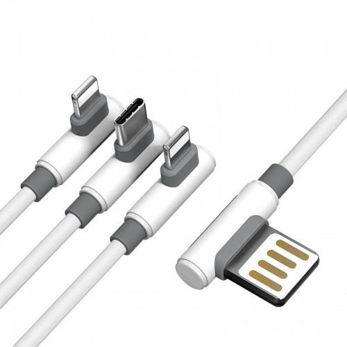 Proda Proda Sparta kabel kątowy 3w1 5A 1m biały PD-B11th proda_20191205135632