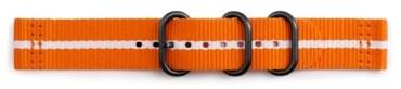 Samsung Pasek Nato do Gear Spor Pomarańczowo-biały GP-R600BREECAG