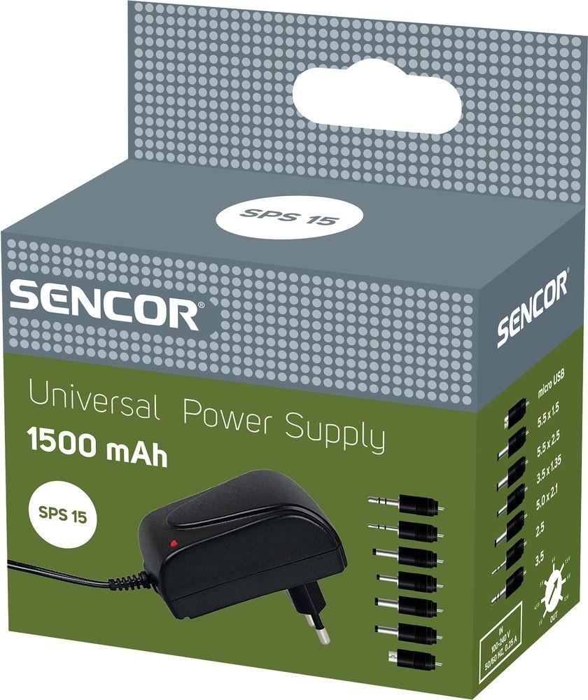 Sencor SPS 15 Uniwersalny zasilacz 1500 mA 35043731