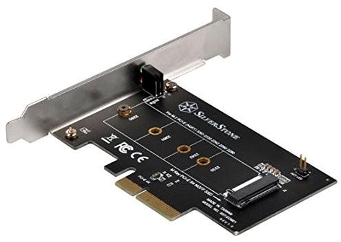 """SilverStone SST-ecm21 """"M.2 (NGFF) do karta sieciowa PCI-E x4"""" adapter Czarny 71113"""