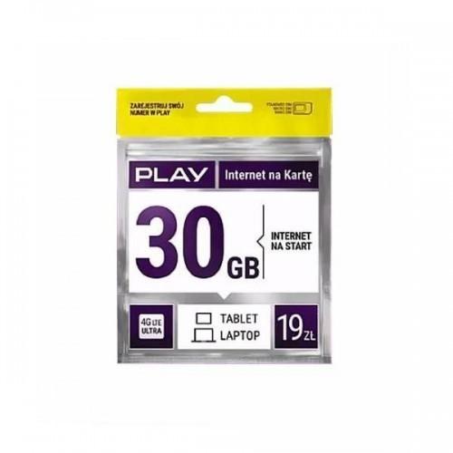 Starter PLAY INTERNET NA KARTĘ 19PLN 30GB MULTI