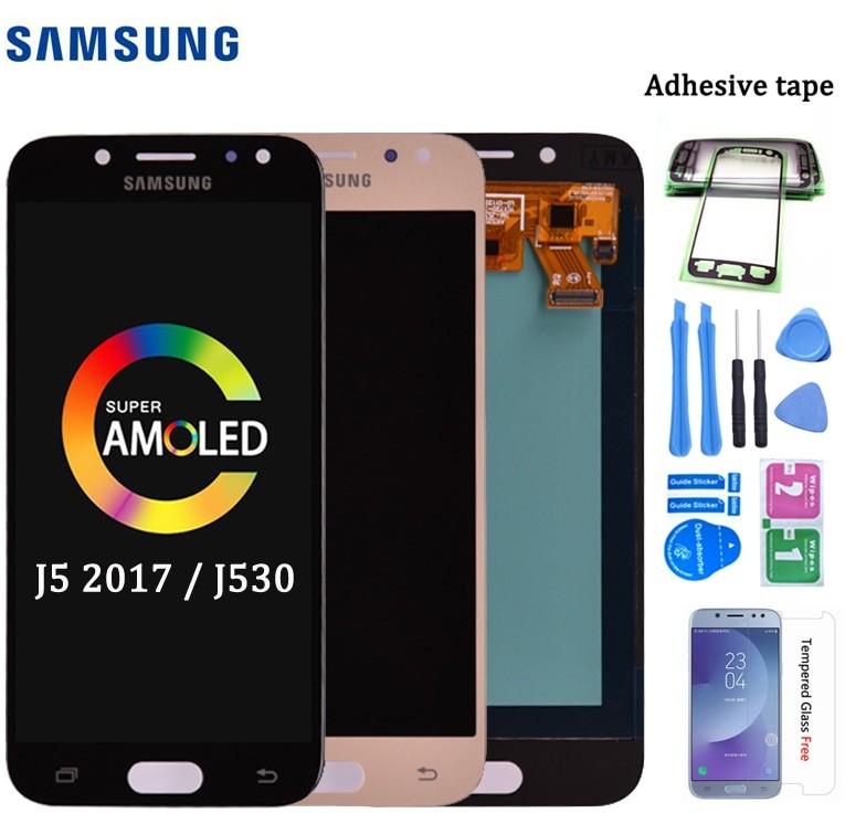 Super amoled LCD do samsunga Galaxy J5 2017 J530 J530F wyświetlacz lcd montaż digitizera ekranu