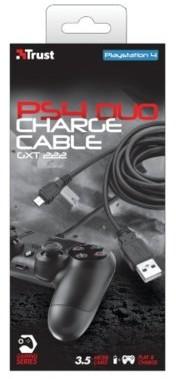 Trust Podwójny kabel USB GXT 222 do konsoli PS4 KUP ten produkt 8% TANIEJ Dotyczy zamówień powyżej 500 zł PS4