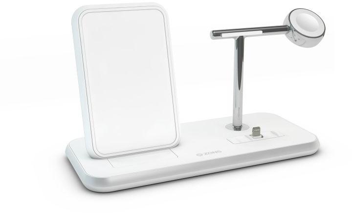 Zens consumer b.v Stand+Dock+Watch bezprzewodowa ładowarka z podstawką do dwóch urządzeń oraz Apple Watch biała) ZEDC07W/00