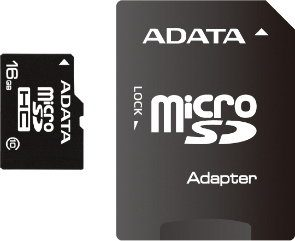 A-Data micro SDHC Class 10 (+ adapter) 16GB (AUSDH16GCL10-RA1)