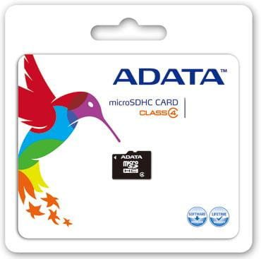 A-Data Micro SDHC Class 4 (+ adapter) 32GB (AUSDH32GCL4-RA1)