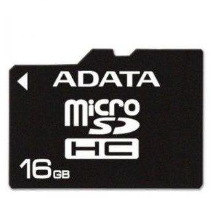 A-Data micro SDHC Class 4 (+ czytnik) 16GB (AUSDH16GCL4-RA1)