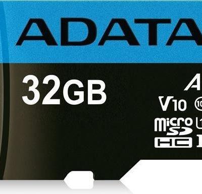 A-Data microSD Premier 32GB + adapter (AUSDH32GUICL10A1-RA1)