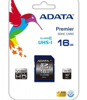 A-Data SDHC Class 10 16GB (ASDH16GUICL10-R)