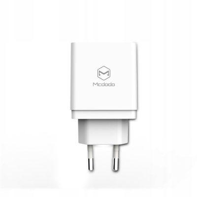 A Plus Mcdodo ładowarka sieciowa Quick 2USB Qc 3.0 biała