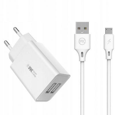 A Plus Wk Design ładowarka sieciowa 2x Usb 2 A + kabel Us