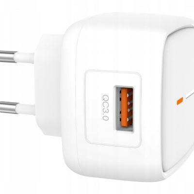 A Plus Xo Ładowarka sieciowa L59 biała 1USB QC3.0