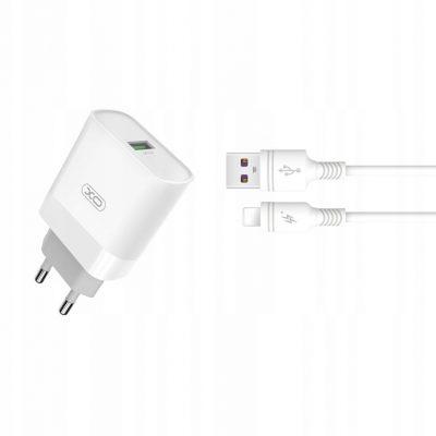 A Plus Xo ładowarka sieciowa L63 Qc 1x Usb biała + kabel