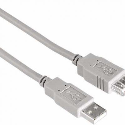 A+ Przedłużacz USB A-A 1.8m szary