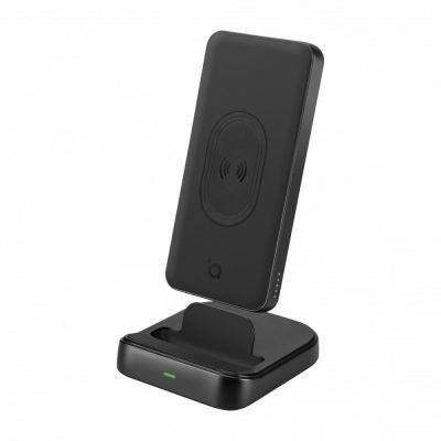 ACME EUROPE Europe Powerbank PB301 10000mAh 18W z ładowaniem bezprzewodowym indukcyjnym Qi z funkcją mini standu USB Typ A+US