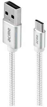 ACME EUROPE Kabel USB 2.0 Acme CB2041S A/M C/M w oplocie 1m srebrny KKAHKKBU0220