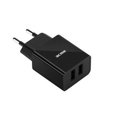 Acme EUROPE Ładowarka sieciowa CH204 2 porty USB 2,4A 12W szybka 504596