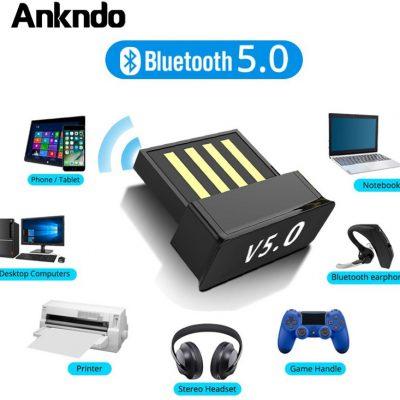 Adaptery USB Bluetooth BT 5.0 USB bezprzewodowy komputer Adapter odbiornik Audio nadajnik Dongles