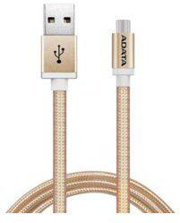 Adata Kabel USB ADATA USB-microUSB 1m Gold alu-knit AMUCAL-1 mK-CGD (AMUCAL-100CMK-CGD)
