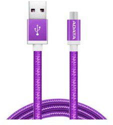 Adata Kabel USB ADATA USB-microUSB 1m Purple alu-knit AMUCAL-1 mK-CPU (AMUCAL-100CMK-CPU)