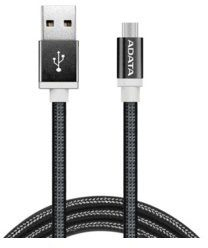 ADATA Kabel USB-microUSB 1m Black alu-knit AMUCAL-100CMK-CBK